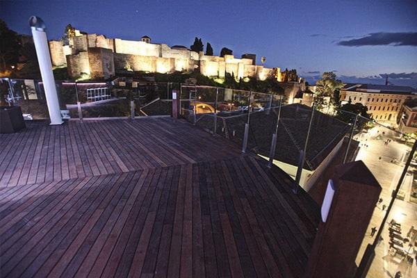 cinco mejores terrazas de malaga alcazaba